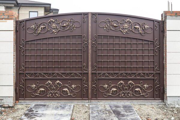 Кованые ворота и калитка — г.Краснодар