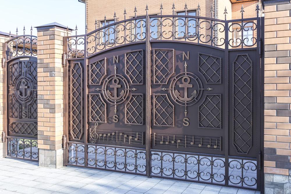 Кованые ворота и калитка - п.Супсех