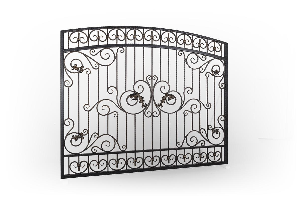 Кованые ворота, калитка и заборная секция - п.Цибанобалка