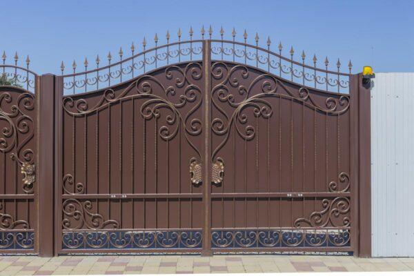 Кованые ворота с калиткой – г.Анапа