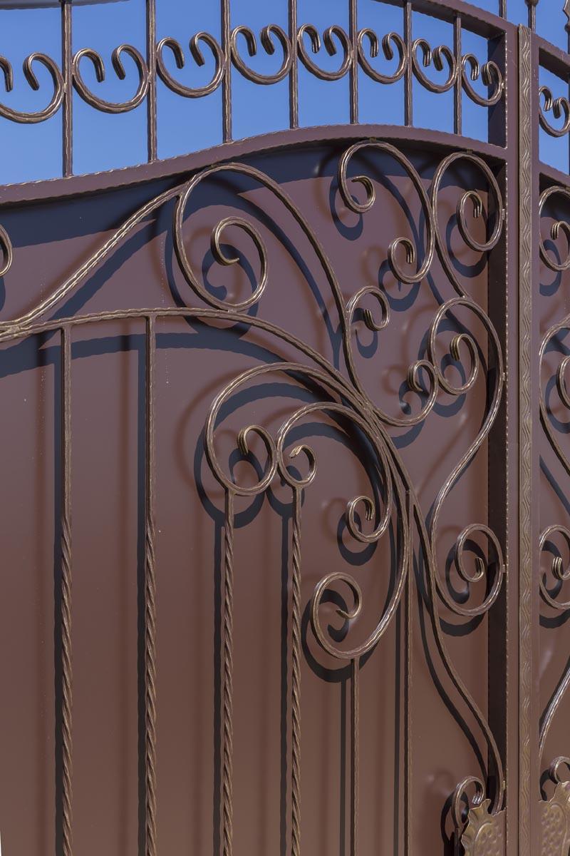 Кованые ворота с калиткой - Анапа