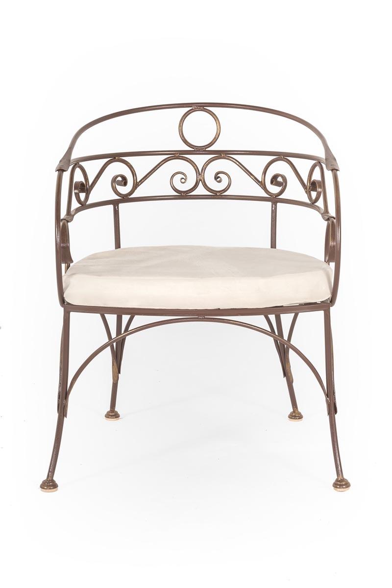 Кованый столик и стулья шоколадные с патиной