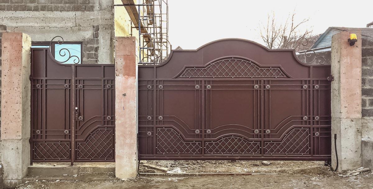 Откатные кованые ворота - Новороссийск