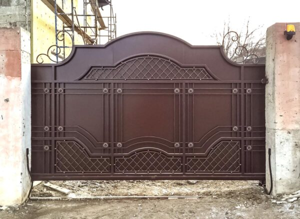 Откатные кованые ворота – г.Новороссийск