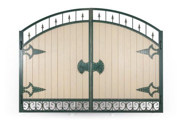 Ворота и калитка с использованием дерева – п.Пятихатки