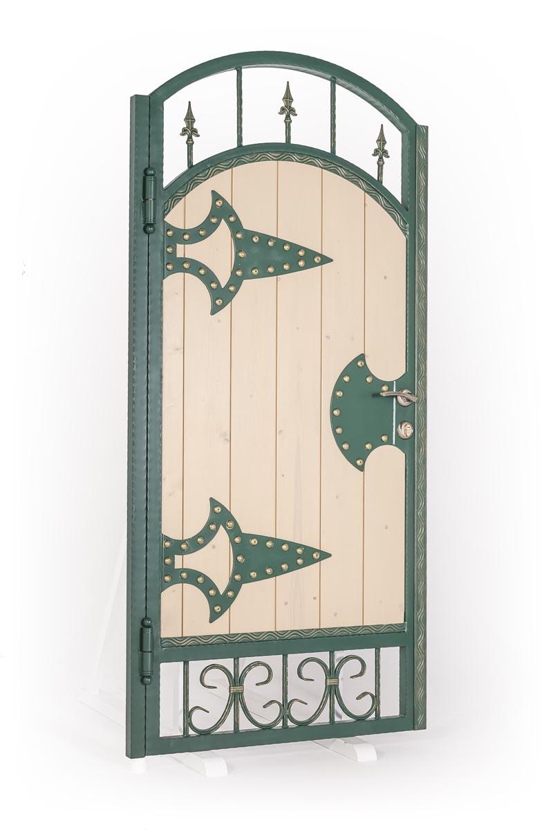 Ворота и калитка с использованием дерева - п.Пятихатки