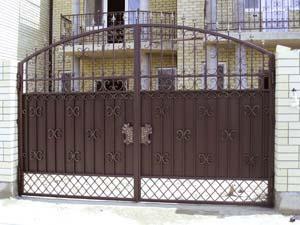 Кованые ворота и калитка – г.Анапа