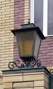 Кованый фонарь и колпак