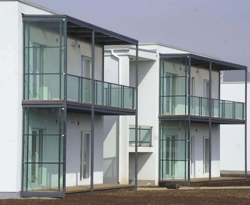 Металлические балконы для Волейграда в поселке Витязево