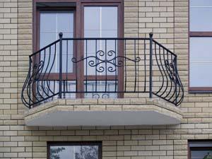 Стандартное балконные ограждения
