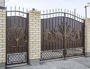 Кованые ворота, калитка и навершия – п.Супсех