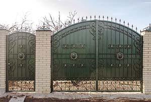 Кованые ворота и калитка – п.Супсех