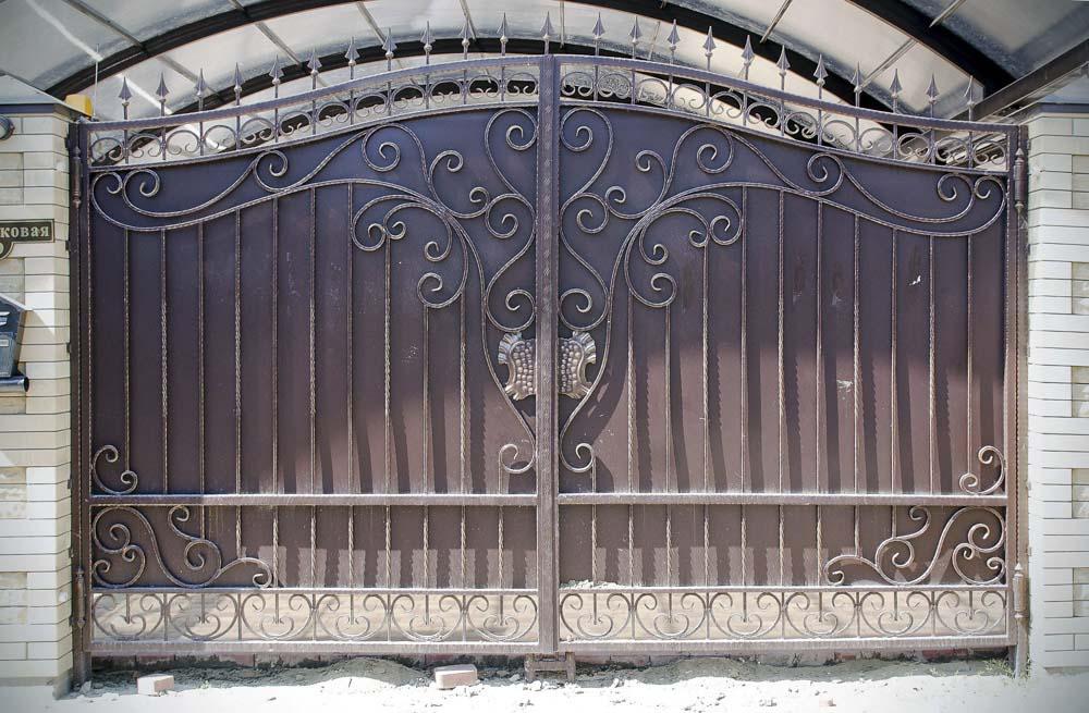 Кованые ворота и в городе Анапа