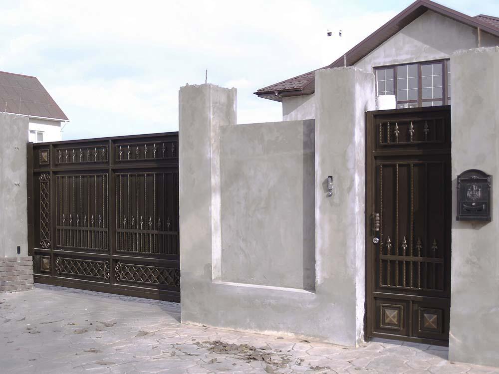 Стандартные откатные ворота Б3 с автоматикой в Витязево
