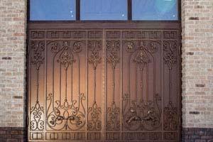 Кованые ворота и калитка — г.Анапа