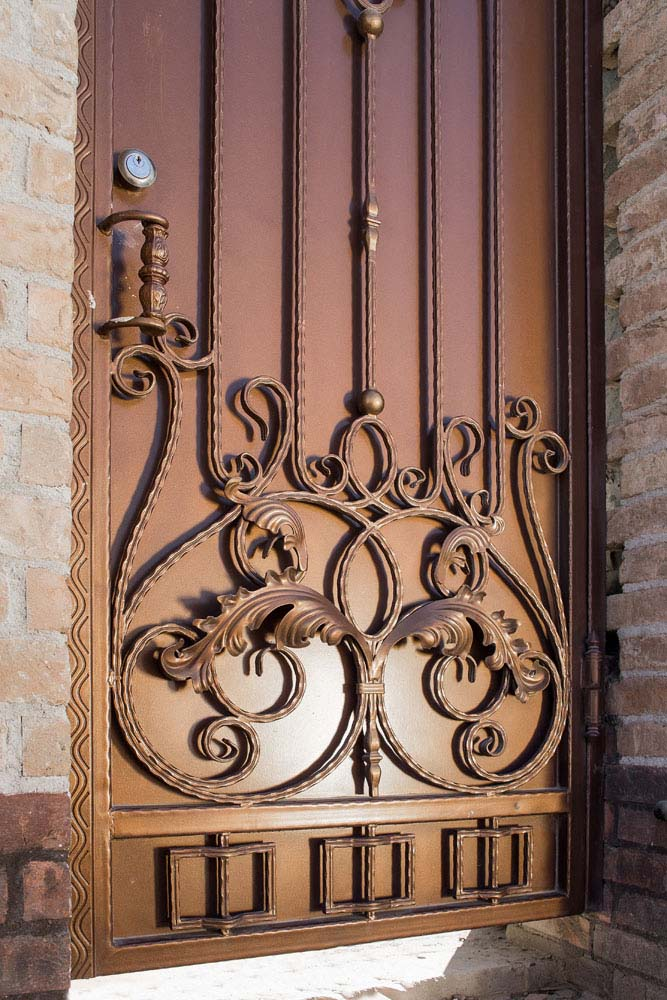 Кованые ворота и калитка - г.Анапа