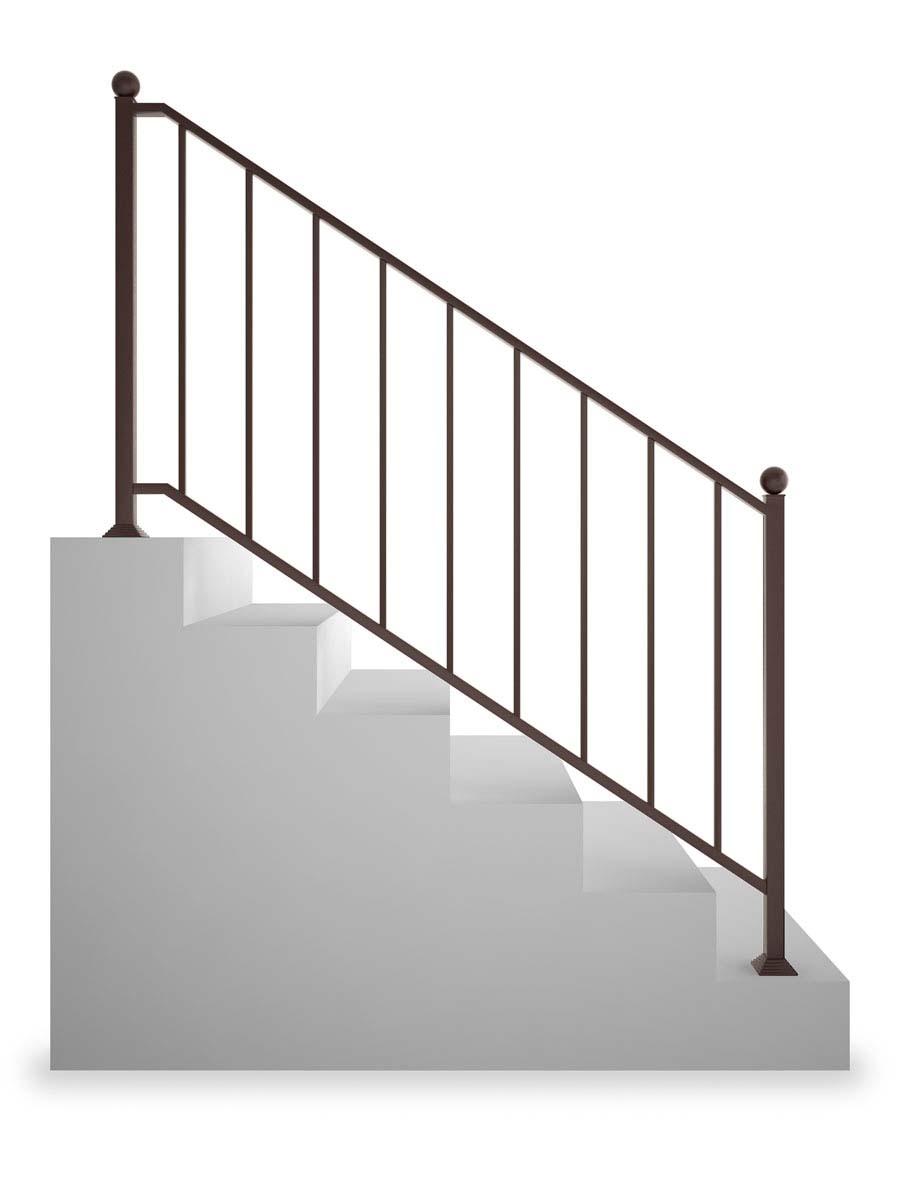 Ограждение лестничное прямое, без рисунка (арт. ОЛП)