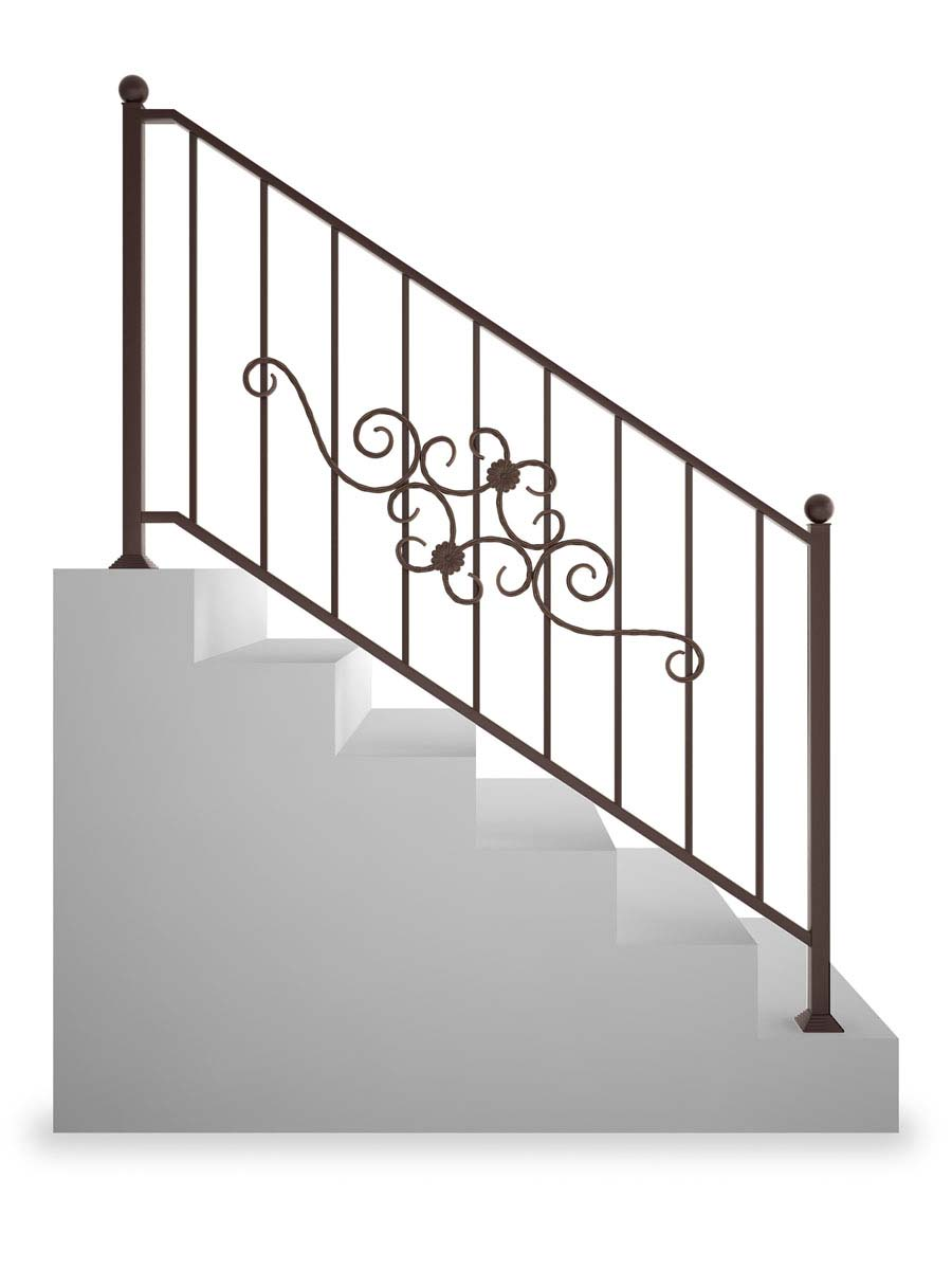Ограждение лестничное прямое, рисунок 1 (арт. ОЛП-1)