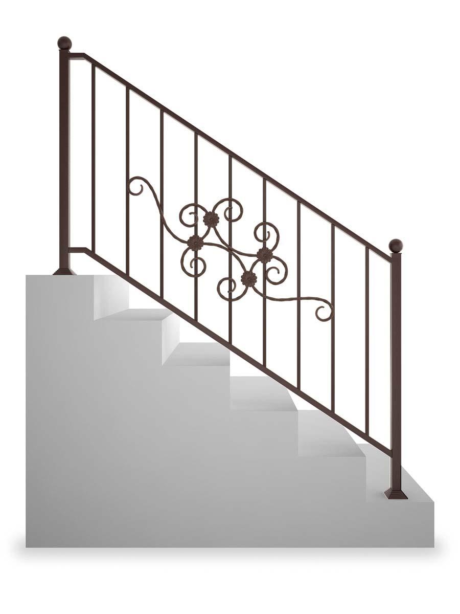 Ограждение лестничное прямое, рисунок 3 (арт. ОЛП-3)