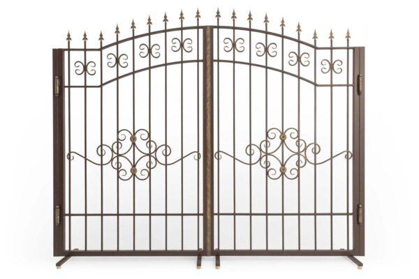 Открытые арочные ворота с патиной ОАВ-3000-1
