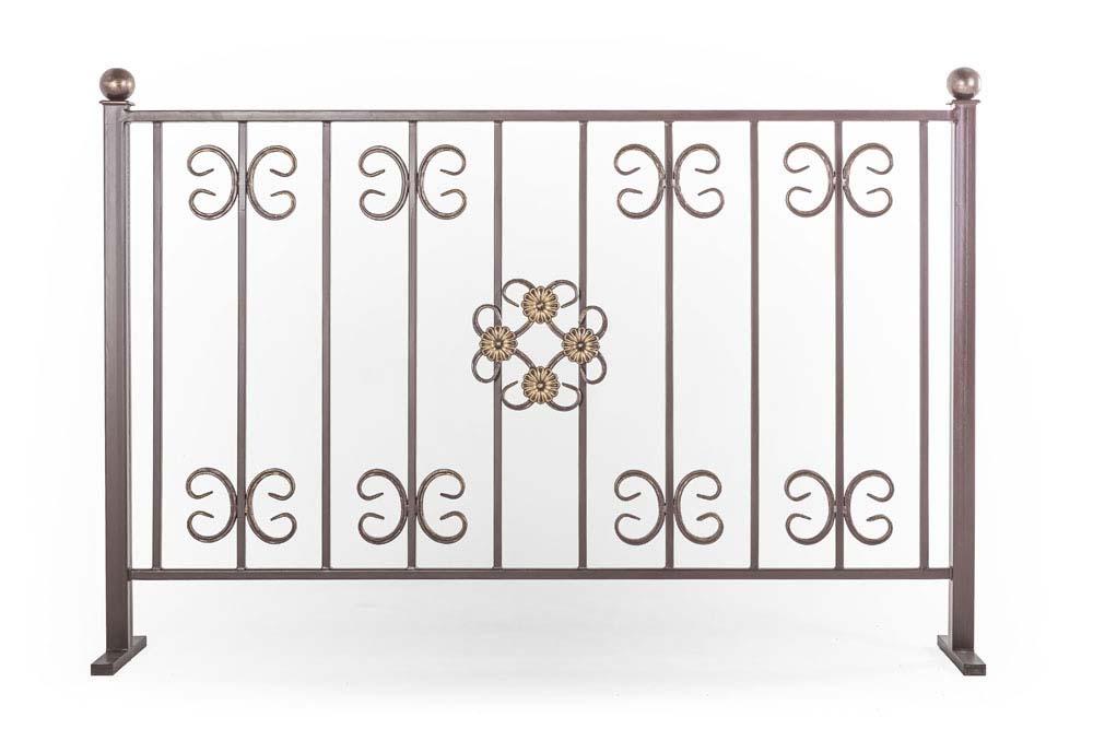 Балконные ограждения прямые, рисунок 4