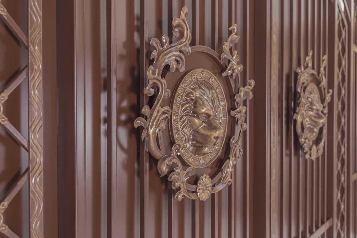 Ворота серии «Эконом» — «Античные — Лев в кустах»