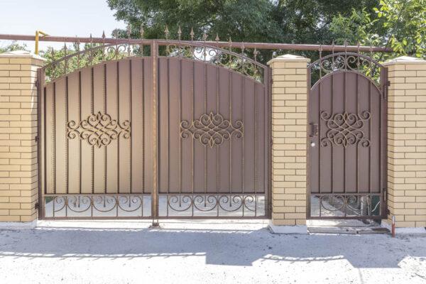 Кованые ворота и калитка — Новороссийский район