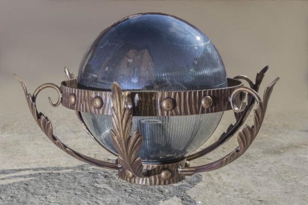 Кованый фонарь шар