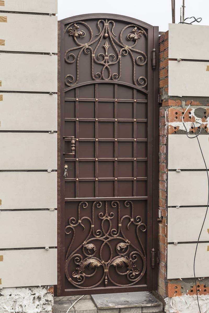 Кованые ворота и калитка - г.Краснодар