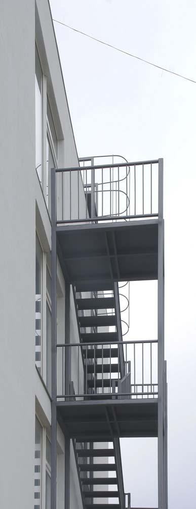 Пожарная лестница в Волейграде в поселке Витязево