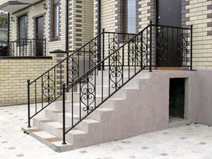 Стандартные уличные балконные и лестничные ограждения — п.Супсех