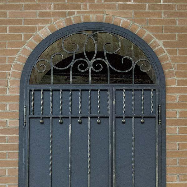 Дверь с элементами ковки — п.Благовещенка