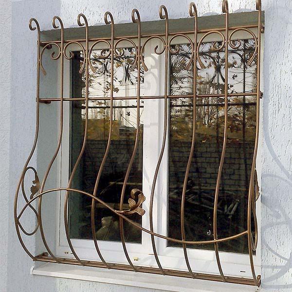 Кованые оконные решетки — г.Анапа