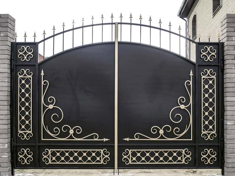 Стандартные кованые ворота Д4 в поселке Супсех