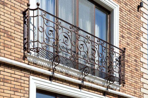 Кованые французские балконы — п.Адербиевка