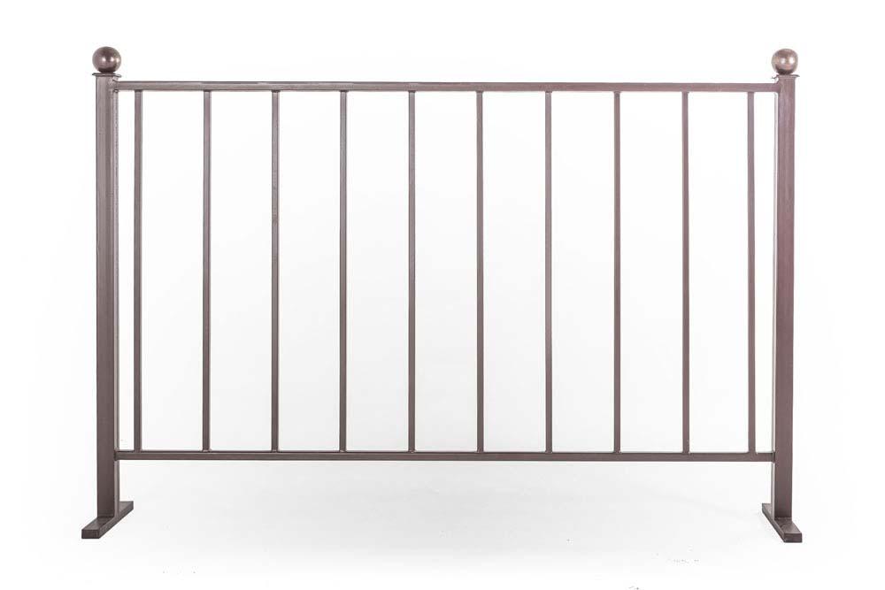 Балконные ограждения прямые, без рисунка