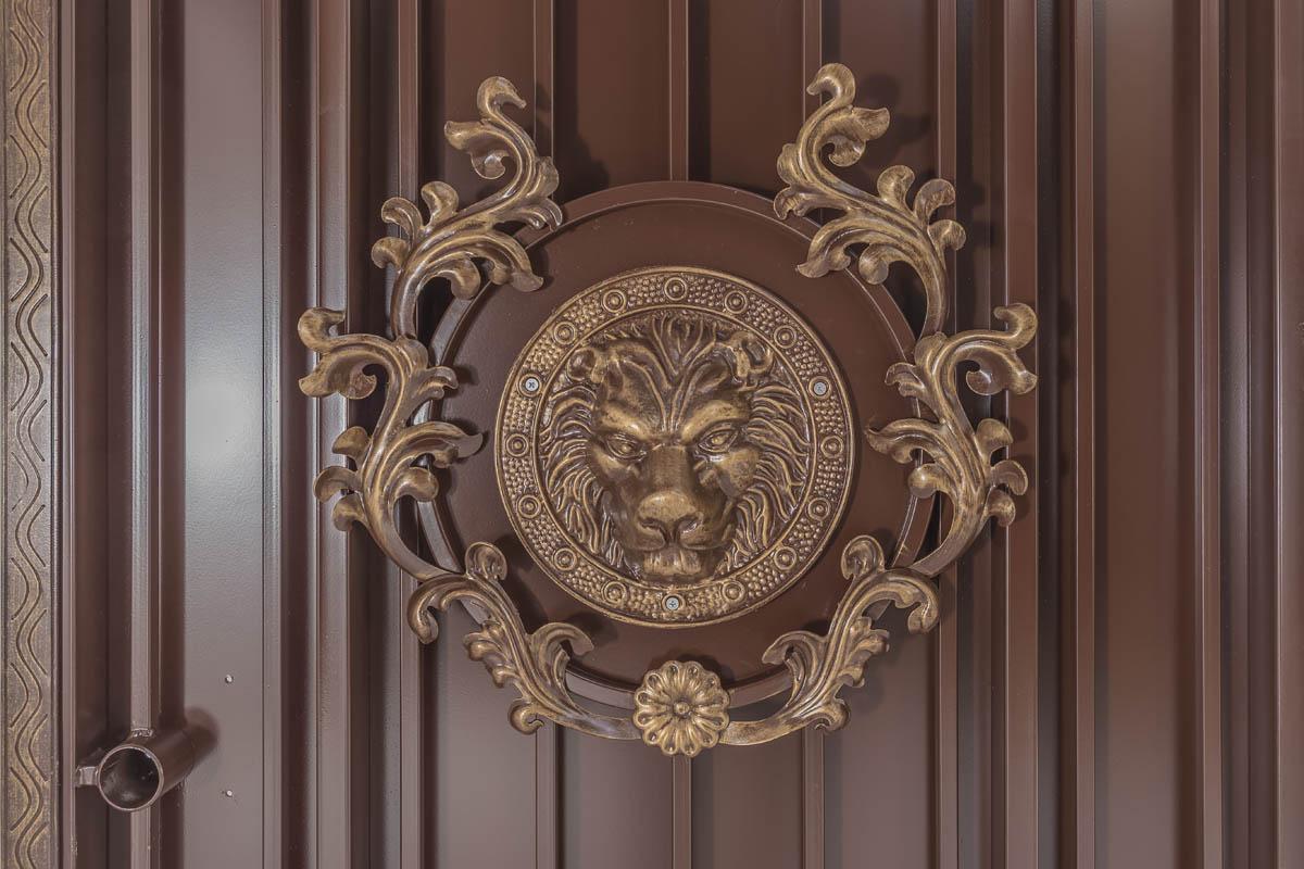 Калитка серии «Эконом» — «Античная — Лев в кустах»
